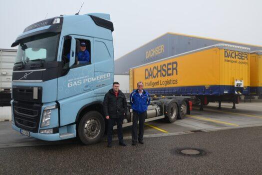 DACHSER test vrachtwagens op aardgas