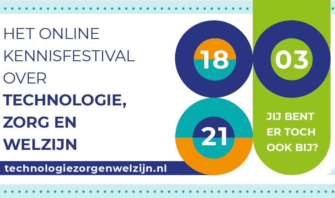 Online Kennisfestival op 18 maart over techniek in de zorg