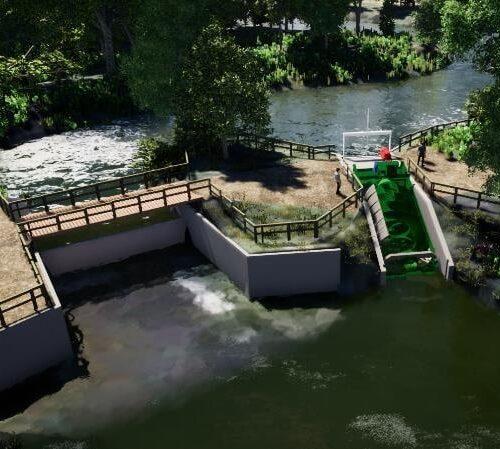 Aanleg vijzelturbine landgoed Singraven officieel begonnen