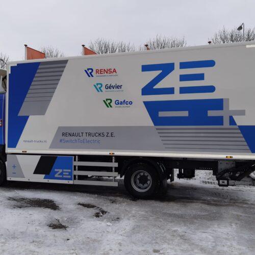 Rensa Family Company bezorgt in Achterhoek met elektrische truck